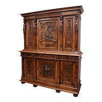 Showy Antique French Renaissance Cabinet, Excellent Quality, 19th Century