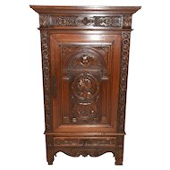 Small French Renaissance Cabinet, Spanish Influence, Oak, 1920's