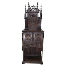 Superb French Gothic Cabinet, 19th Century, Walnut, Tall Spires