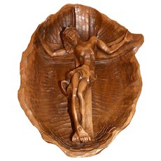 Nice carved Wooden Religious Carving of Christ, 1920's