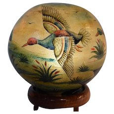 Unique Art Deco Lamp, Waterfowl & Camel, 1930's, Taxidermy