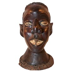 Nubian Jungle Native Head / Bust, Hand Crafted