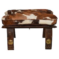 Vintage European Camel Stool / Foot Stool, Very good Condition