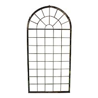 Tall Iron Arched Window Panel, From France, Nice Architectural Piece