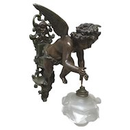 Adorable Winged Cherub Wall Chandelier, Wall Sconce, 1920's