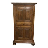 Antique French Country Cabinet, Rustic & Primitive, Walnut,  Late 18th Century to early 19th Century #9318