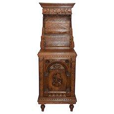 Rustic & Primitive Flemish Cabinet, Oak, 1920's