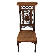 Antique French Gothic Religious Church Kneeler or Prayer Chair, 1900's, Oak