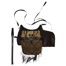 Antique Primitive European Game Keeper/Hunters Bag, RARE, Turn of Century