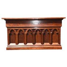 Antique Church Altar, Restored, Turn of the Century, Mahogany & Oak