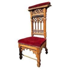 Lovely Antique Gothic Prayer Chair / Religious Kneeler, 1900-20's