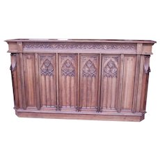 Wonderful & Unique French Gothic Counter, Oak