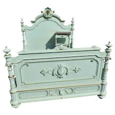 Lovely Antique Painted French Bed, 19th Century