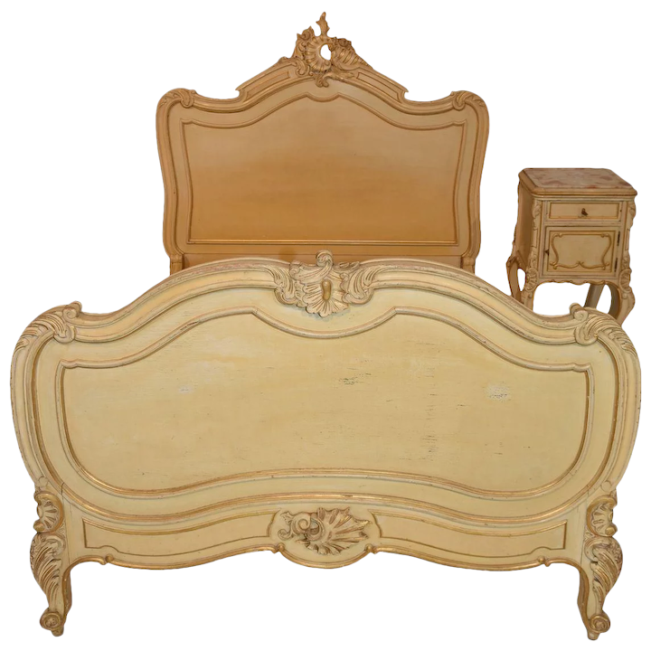 38431c0740d4 Lovely Value Priced Antique French Bed   Nightstand
