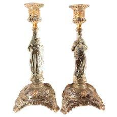 High Quality Bohemia Crystal Sacred Heart & Immaculate Heart, Religious