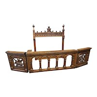 Antique French Gothic Church Railing, Great Architectural Pieces, 19th Century