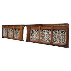 Ornate Antique French Gothic Church Railing, Turn of Century, Nice Architectural Statement