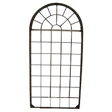 Tall Iron Arched Window Panel from France, Nice Architectural Piece