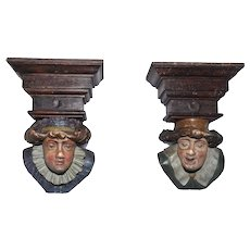 Whimsical & Decorative Hand Carved & Painted Carved Heads