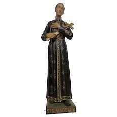 Antique Religious Church Statue of Saint Gerard, Tall Model, 19th Century