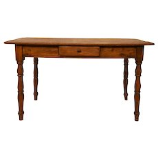 Rustic Antique French Farm Table, Small Kitchen Table, Primitive, 19th Century, Chestnut