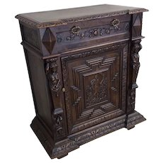 Antique French Renaissance Cabinet, Oak, 19th Century