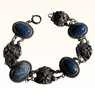 Antique Gothic Satan/Demon Sterling Silver  Bracelet          C.1900