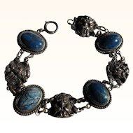 Antique Gothic Satan/Demon Sterling Silver  Bracelet          C.1900