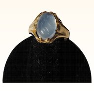 Antique Edwardian 22 kt. Gold Moonstone Ring       C.1900
