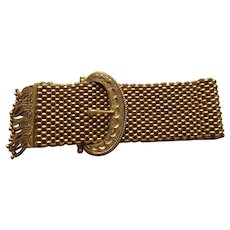 Antique Georgian  18 kt. Gold Belt Buckle Bracelet   C.1830