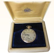 Vintage  Hamilton 23  Jewels  14 Kt. Gold Fill Pocket Watch with Case   1920's