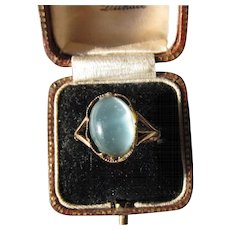 Antique Georgian 12 kt. Rose Gold Moonstone Ring  C.1780