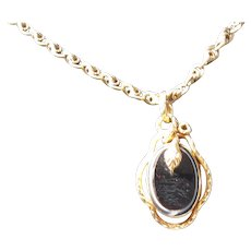 Antique Victorian 14 kt and 18 kt gold  French Gold Snake Pendant//Necklace        C. 1890