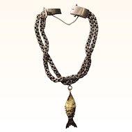 Vintage 14 kt. Gold Charm Bracelet    C.1920