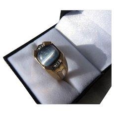Vintage  Retro 10 kt. Gold men's Moonstone Ring       C.1950
