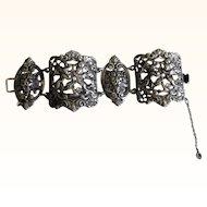 Vintage Sterling Silver Cini Bracelet             C.1920s