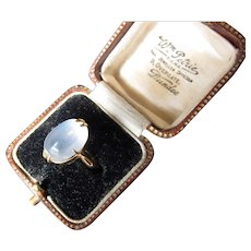 Antique Victorian 22 kt. Gold Moonstone Ring  C.1900