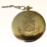"""Antique 14 kt. Gold Tiffany & Co.  """"Coat of Arms """" Pocket Watch """"     C.1910"""