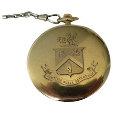 "Antique 14 kt. Gold Tiffany & Co.  ""Coat of Arms "" Pocket Watch ""     C.1910"