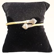 Victorian 15 kt. Gold  Hand Woven Bracelet     C.1860