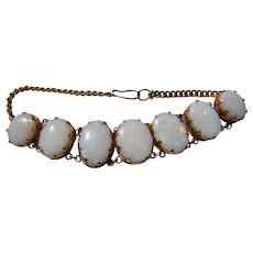 Antique Victorian 18 kt. Gold Opal Bracelet  C.1900