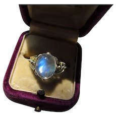 Antique Victorian 14 kt. Gold Moonstone Ring  C.1890