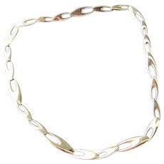 Beautiful Vintage Georg Jensen 18. Kt.Gold Necklace