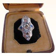 Antique Art Deco  18 kt. Gold Diamond Ring           C.1910