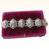 Vintage Sterling Silver Bracelet Signed Parenti   C.1920