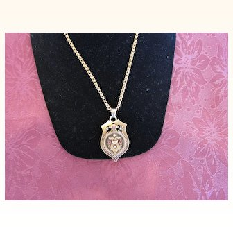 Antique Victorian 14 kt. Gold Necklace and Locket            C.1870