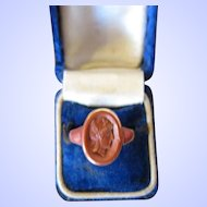 Antique Victorian 14 Kt. Gold  Seal Ring     C.1870