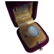 Antique Victorian 14 kt. Gold Moonstone Ring   C. 1870