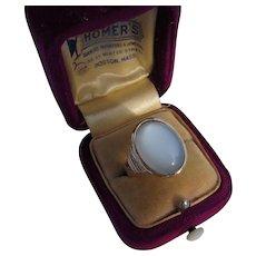 Antique Victorian 14 kt. Gold Moonstone Ring   C. 1870