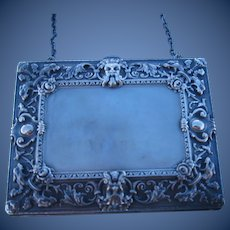 Antique Art Nouveau Satan Chatelaine Sterling Silver Purse Signed William Kerr Very Rare  C.1910